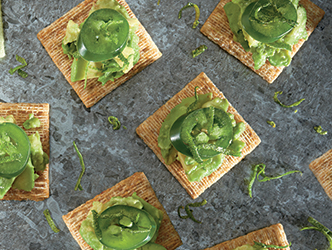 Avocado and Jalapeno TRISCUIT Toppers