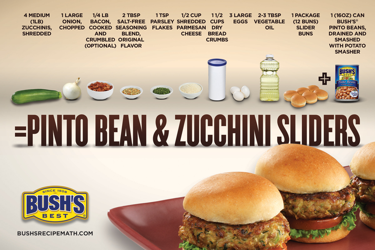 Bush's Best pinto bean and zucchini slider recipe