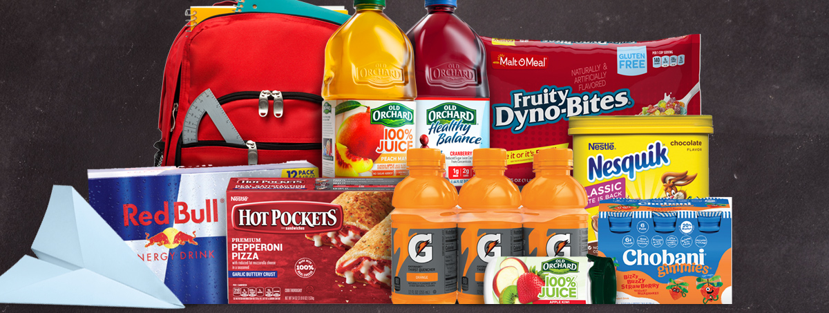 back to school foods, snacks and beverages