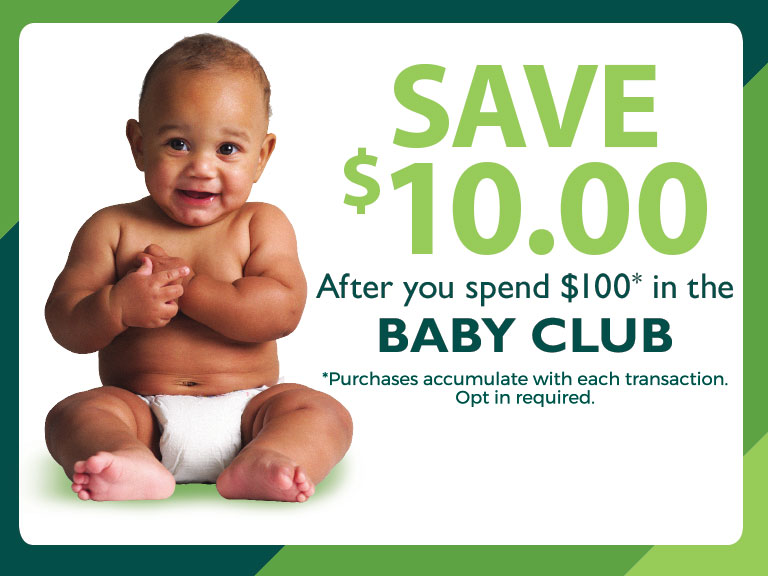 image of baby and baby club opt-in information