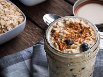 Secret Weapon Blueberry-Banana Overnight Oats