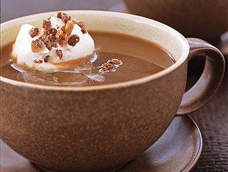 This delicious Caramel Coffee recipe will keep you warm near the ice!