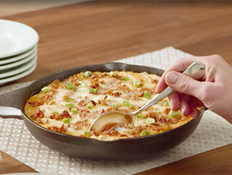New cheesy cauliflower dip recipe, a winner for your next Hockey Party!