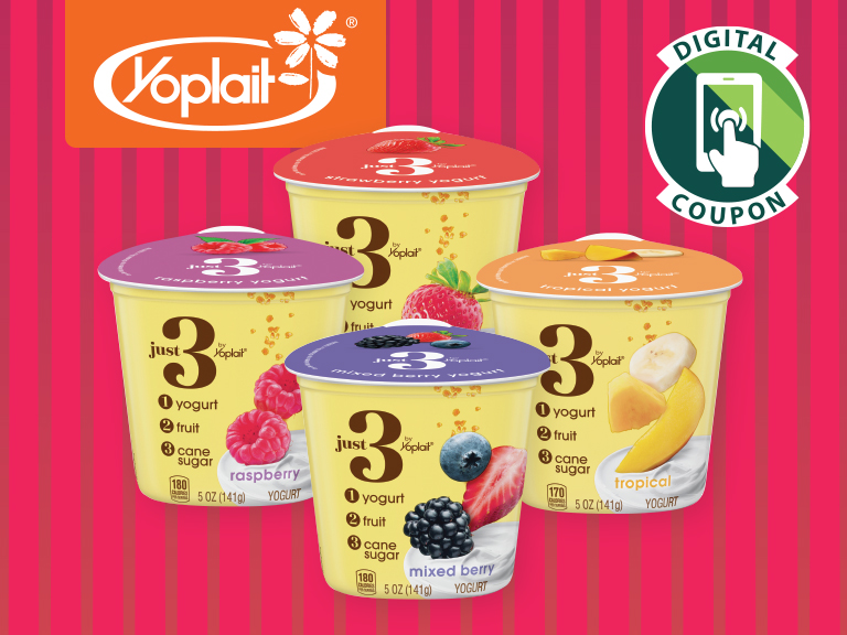 Introducing Just 3 by Yoplait.