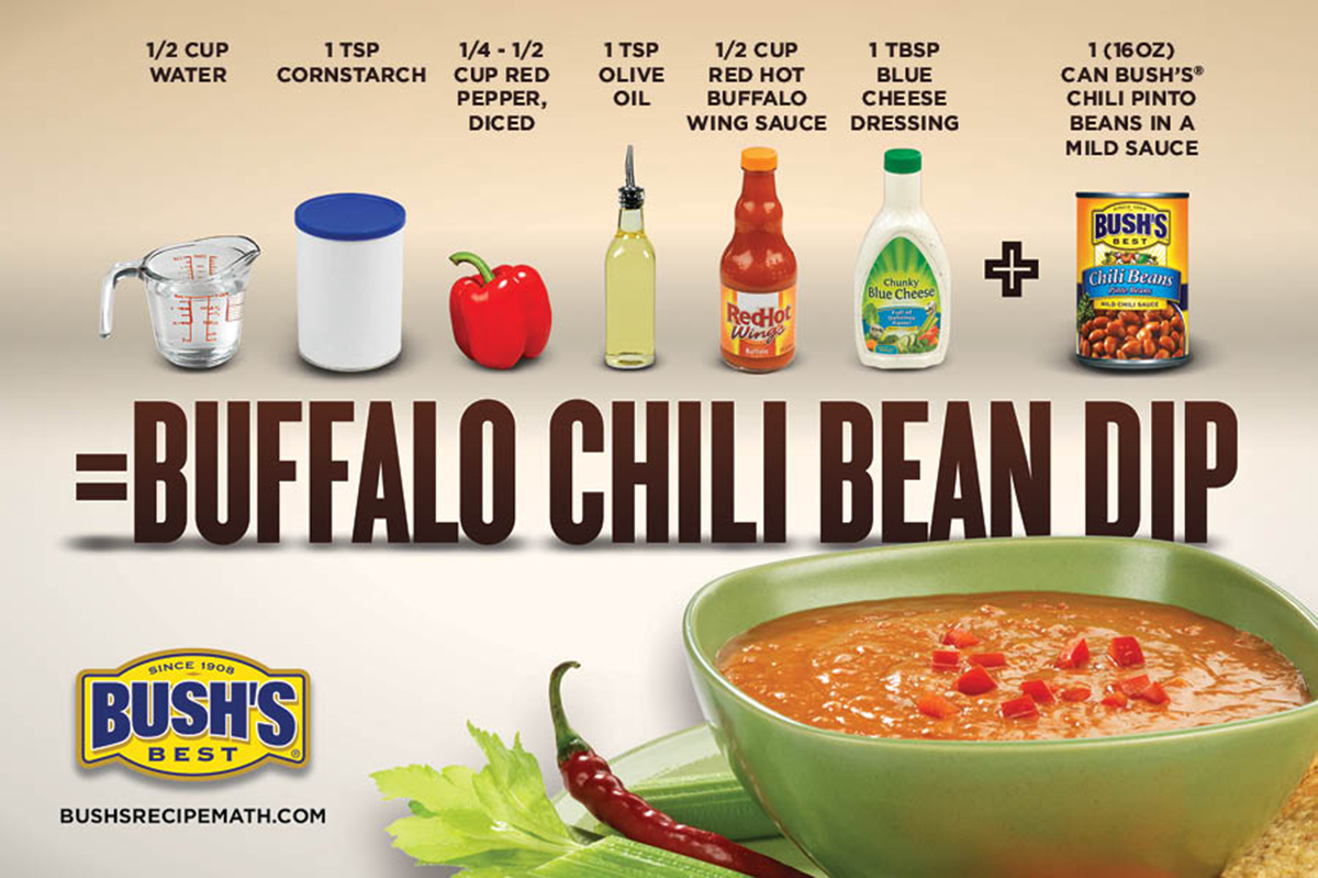 Bush's Best buffalo chili bean dip recipe