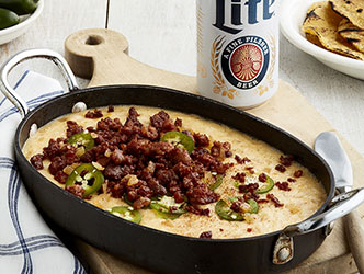 Miller Lite Queso Fundido with Grilled Tortillas