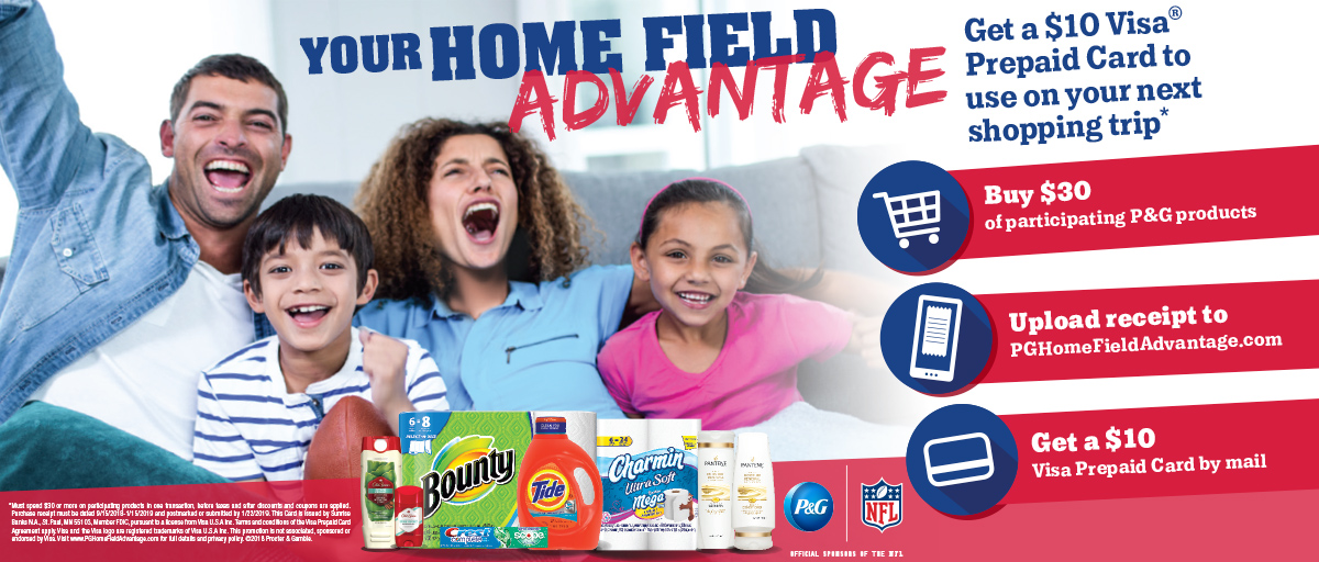 Procter and Gamble Your Home Field Advantage Contest Information Graphic and Link