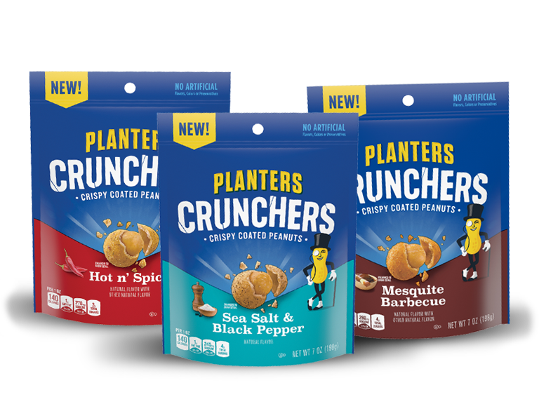 Planters Crunchers -  Enjoy the crunch with an extra bold punch!
