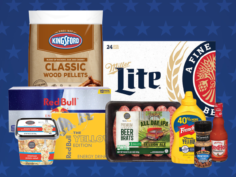 Save on these grilling favorites with yes Rewards