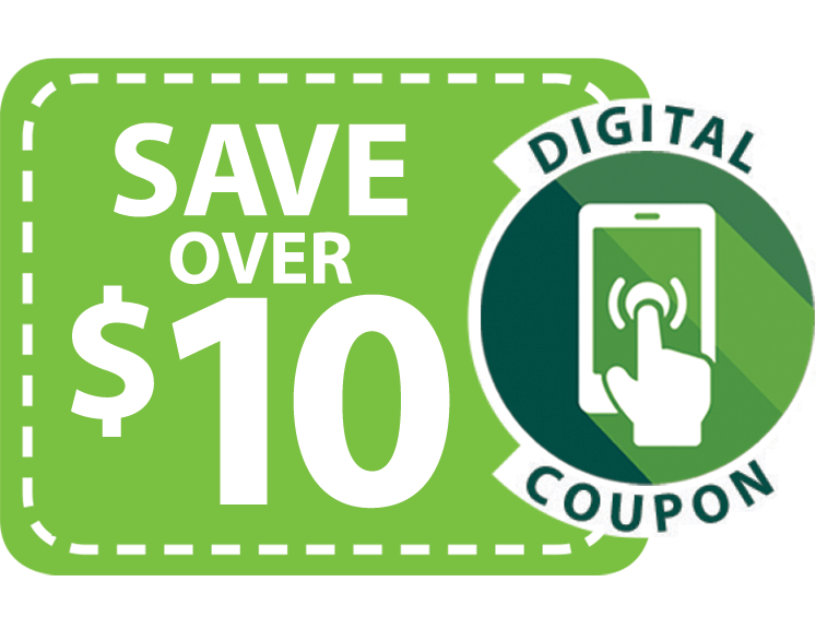 Save over 10 dollars with digital coupons