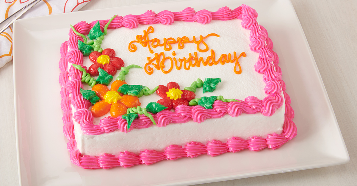 Specialty cakes from D&W Fresh Market stores will be the star of your party!