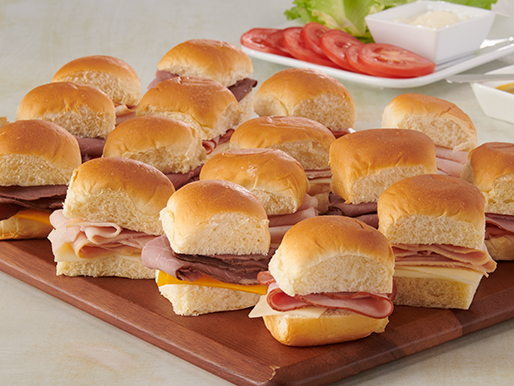 Slider Sandwiches party platter from D&W Fresh Market