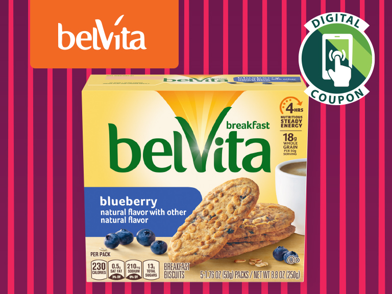 Start your morning with a steady 4 hours of energy from BelVita.