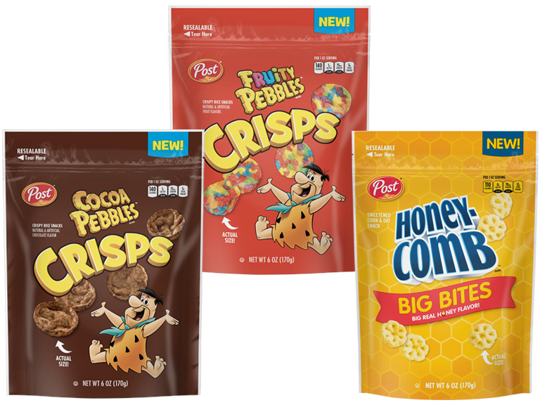 Fruity Pebbles and Honey Comb Cereal Snacks