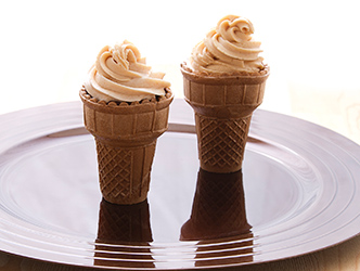 Cake Filled Ice Cream Cones