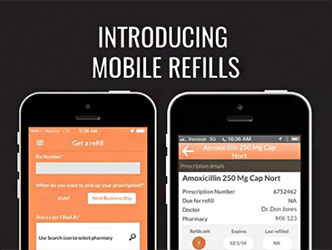 On line and mobile refills with Apple and Android apps.
