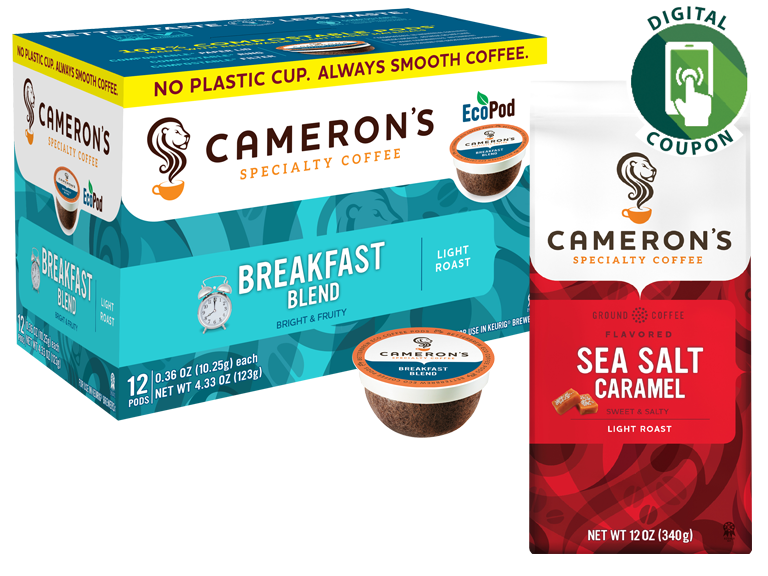 photo of cameron's brand coffee