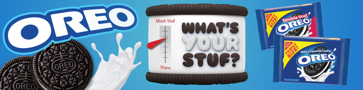 Oreo cookies what's your stuf meter