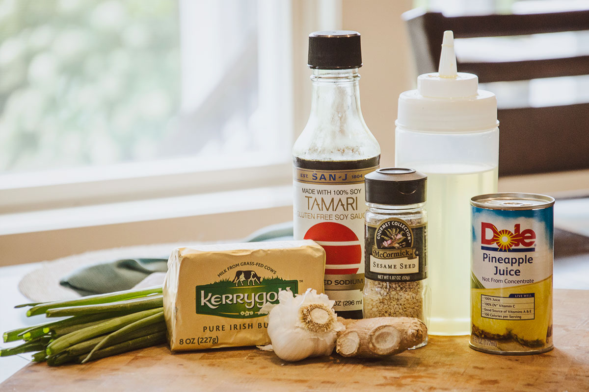 Teriyaki Chicken Wings recipe ingredients are simple and easy to use, including Kerrygold Pure Irish Butter, McCormic Sesame Seed, Dole Pinapple Juice and fresh produce.