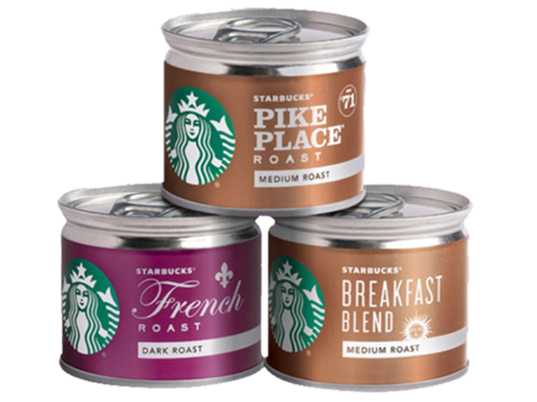 Starbucks 8 ounce coffee cans