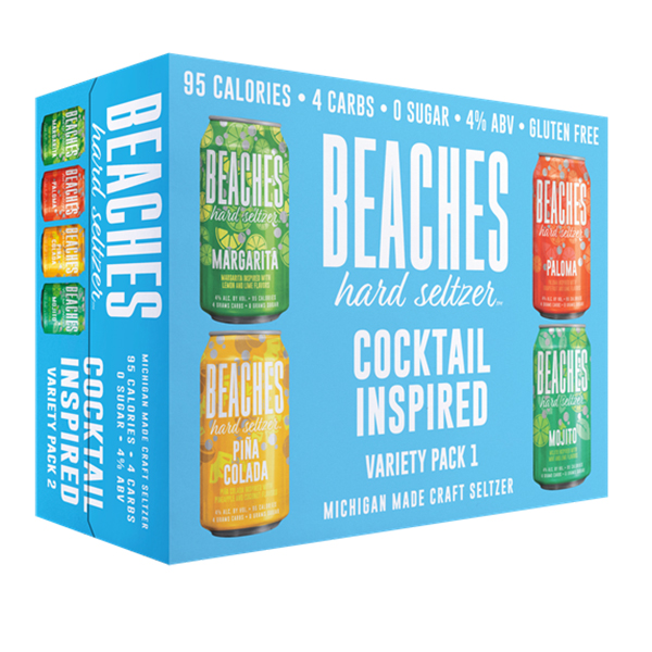 Beaches Cocktail Variety Seltzer 12pk can