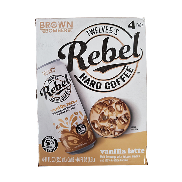 Rebel Hard Vanilla Latte 4pk can
